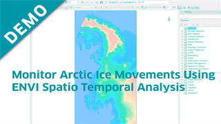Monitor Arctic Ice Movements Using Spatio Temporal Analysis
