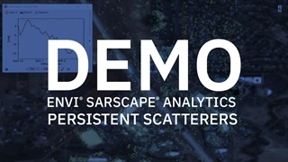 Persistent Scatterers with ENVI SARscape Analytics | DEMO
