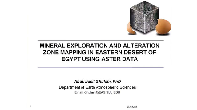 Mapping Mineral Exploration & Alteration Zones with ASTER Data: A