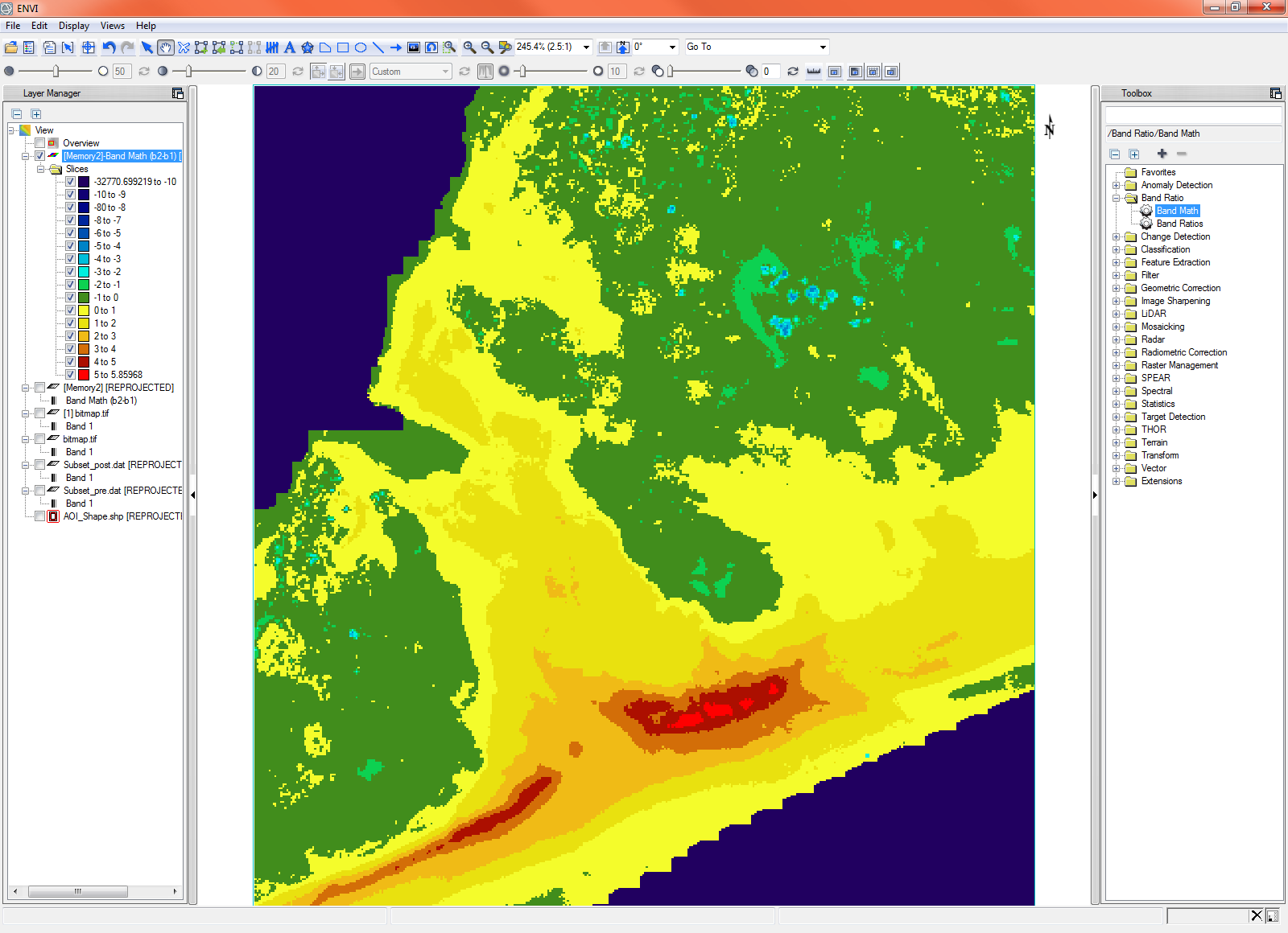 Analyze Coastal Erosion with LiDAR