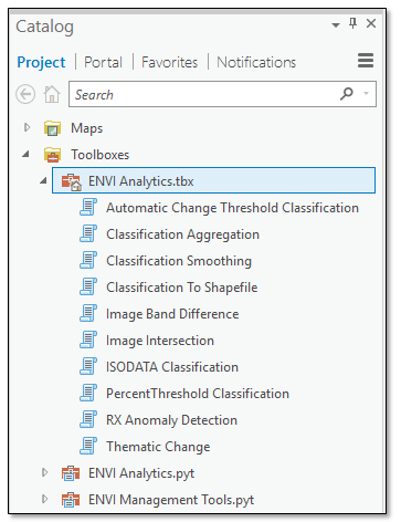 How do I use ENVI Tools in ArcGIS?