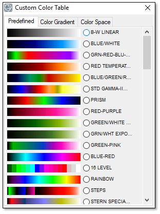 Select A Standard Idl Color Table From The Options Provided Default Is Rainbow See Loading Topic In Help For