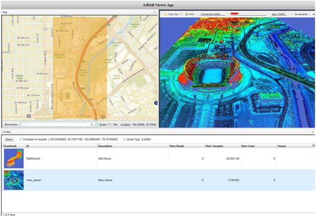 ENVI Services Engine LiDAR Client